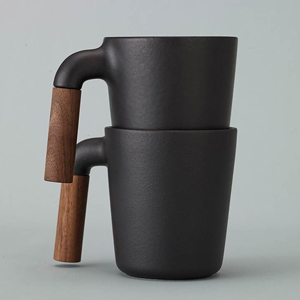 Mugr Ceramic and Wood Coffee Mug, by HMM Project