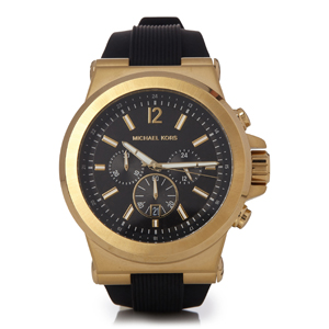Dylan Gold-Tone and Silicone Watch, by Michael Kors