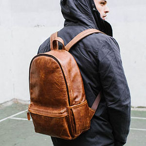 The Leather Clifton Backpack, by Ona Bags