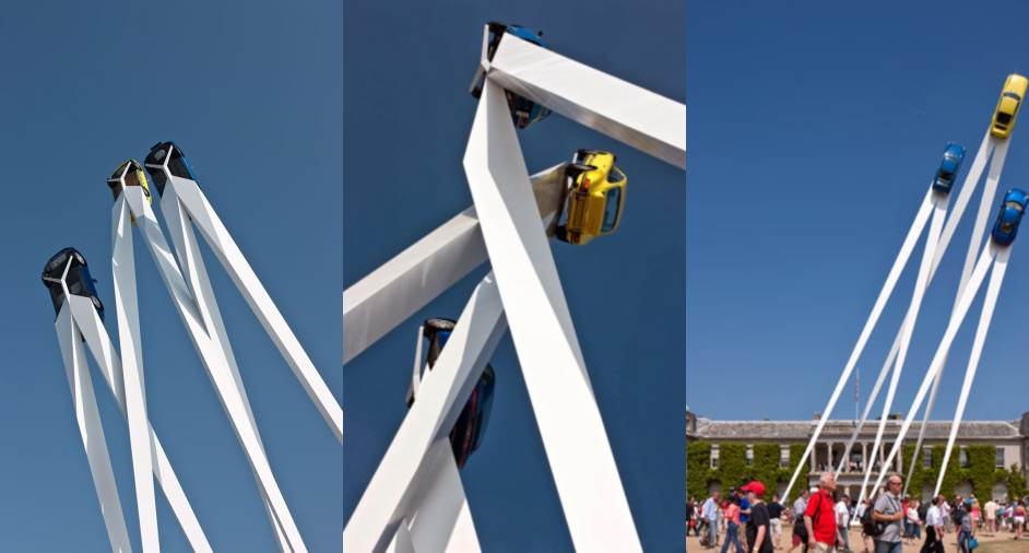 Porsche Sculpture Designed by Gerry Judah