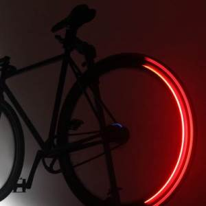 Red LED Revolights for Bicycle Wheels