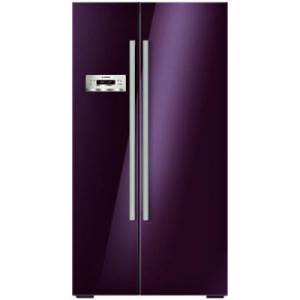 Side-by-side Aubergine Refrigerator, by Bosch