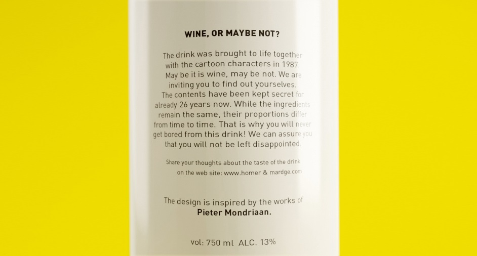 Wine, or maybe not? Simpsons-inspired conceptual packaging