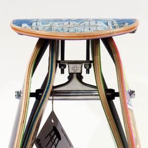 Deckstool, des planches à roulettes transformées