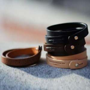 Wrap Cuff, Sober and Distinguished Leather Bracelet