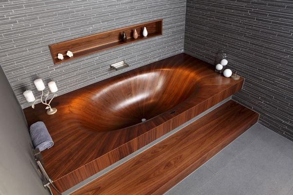 baignoire en bois alegna baxtton. Black Bedroom Furniture Sets. Home Design Ideas