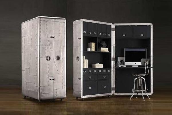 bureau mobile blackhawk secretary trunk baxtton. Black Bedroom Furniture Sets. Home Design Ideas
