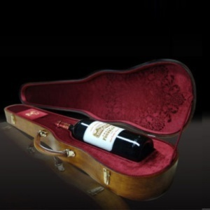 Château Fombrauge 2008 Magnum Nestled in an Original Stradivarius Case