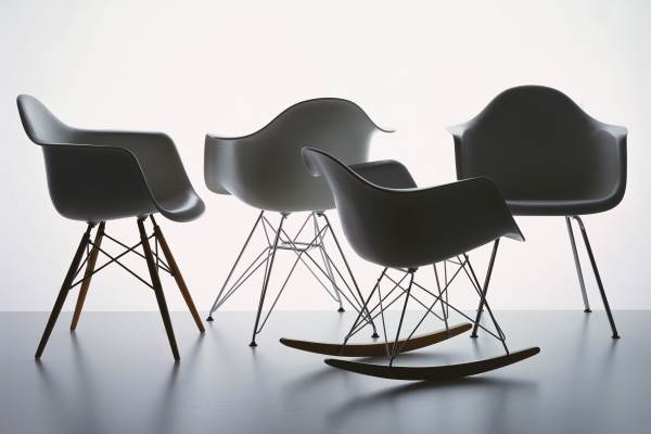 Chaise bascule eames rar 1950 baxtton for Chaise bascule eames rar