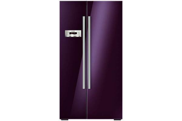 side by side aubergine refrigerator by bosch baxtton. Black Bedroom Furniture Sets. Home Design Ideas
