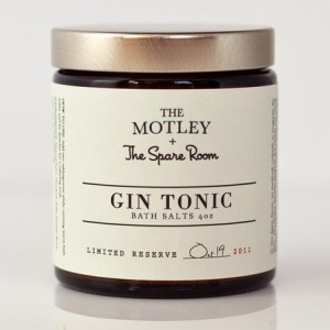 The Motley + The Spare Room = sels de bain au Gin Tonic