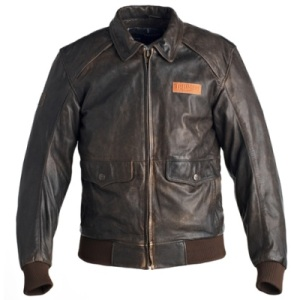 Veste de moto en cuir Steve McQueen de Triumph